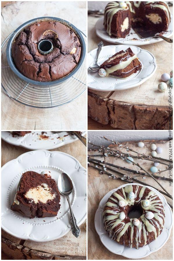 Babka czekoladowa z serem #babka #wielkanoc #cake