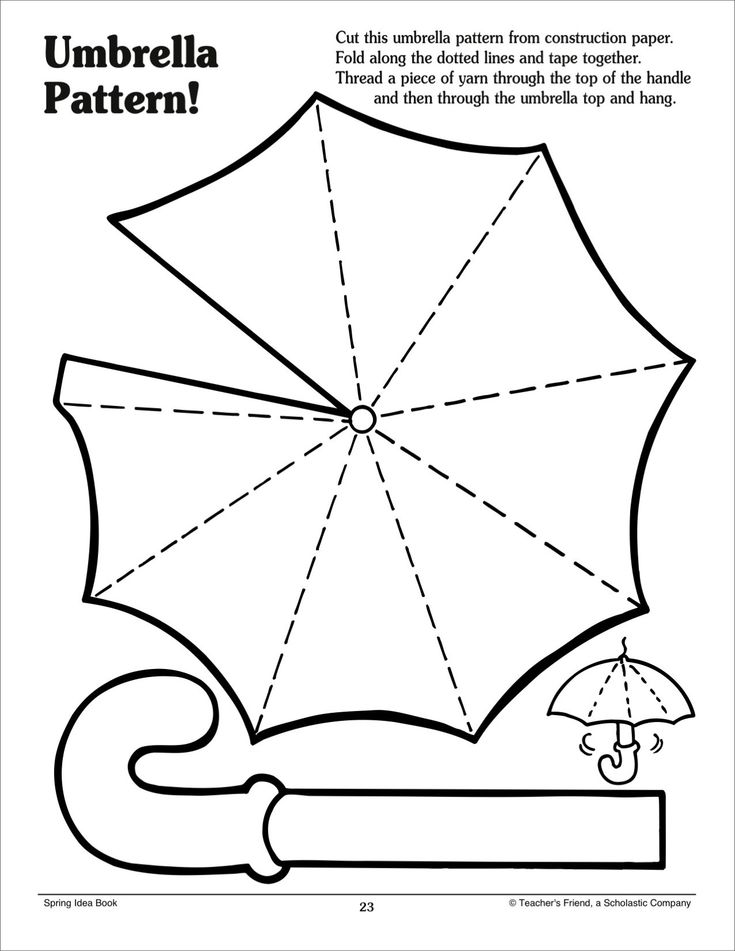 It is a picture of Printable Umbrellas inside hand drawn