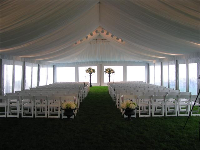 Elegant Tent Wedding with Liner and White Poly-Wood Chairs & 8 best Elegant Tent Liners images on Pinterest | Tent Tents and ...