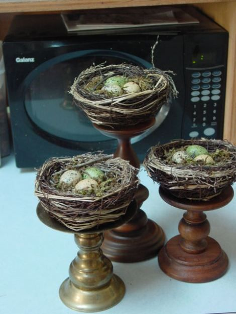 use for old candle pedestals