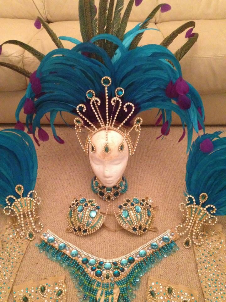 Blue samba costume