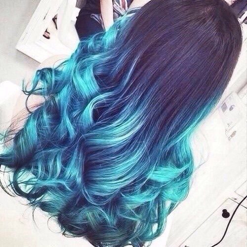 blue hair girl light blue van j_pop | We Heart It