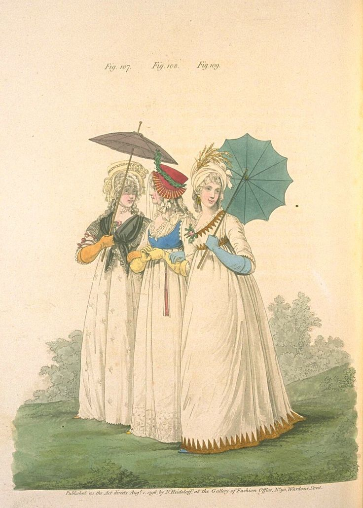 Heideloff's Gallery of Fashion, Aug 1796 Fig. 107 Fig. 108 Fig. 109