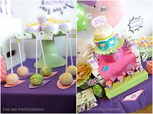 ADORABLE Girly Super Hero Party!