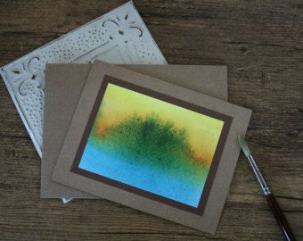 Clarity- abstract watercolour card print by erinkartwork  $4.75CAN Art. Ink. Watercolor. Watercolour. Cards. Greeting cards. Watercolor art. Abstract. Painting. Earth tones.
