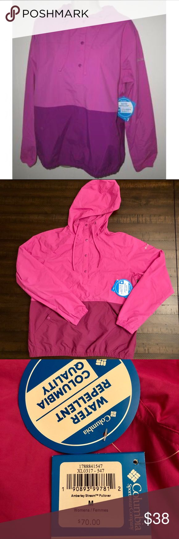 NWT Columbia Amberley Stream Hood Pullover Jacket New with ...