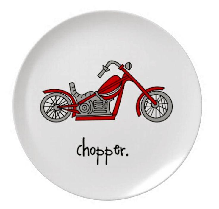 "chopper. 8"" melamine plate. from alexandasher.com"