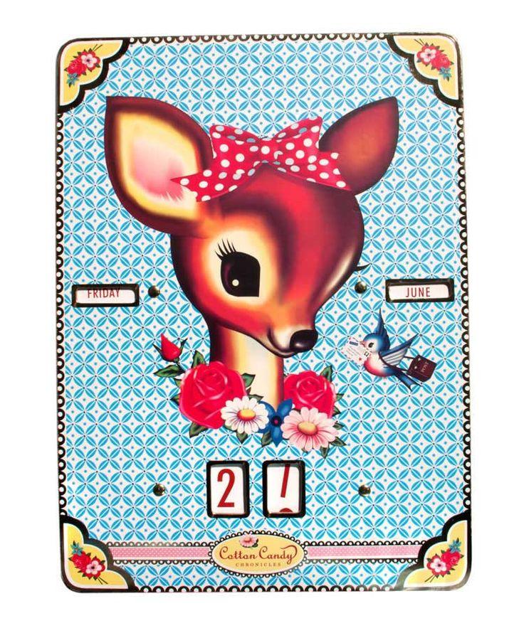 WU & WU Deer Head Perpetual Calendar