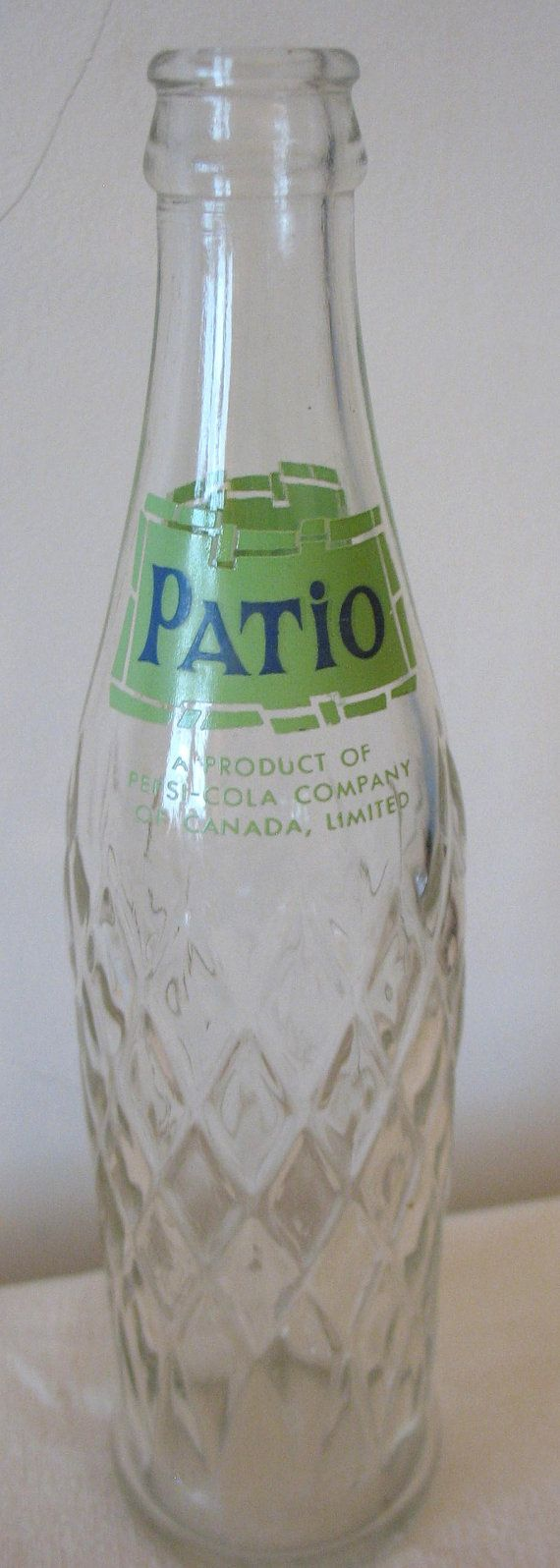 Patio Bottle ACL Painted Label Pop Bottle Soda Bottle Bilingual English And  French Pepsi Cola Of Canada Product 10 Ounce Clear Glass
