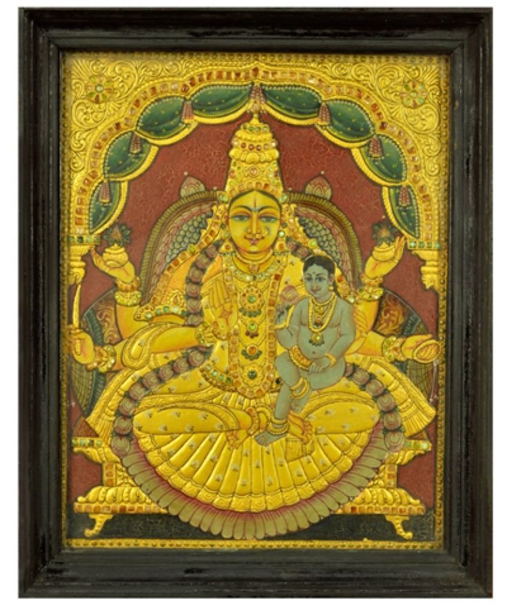 275 Best Tanjore Paintings Images On Pinterest