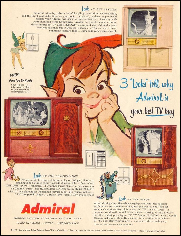 If you were born in 1953, TVs were selling like hotcakes and if your family lived where there was a broadcast signal, chances are they were making sure they could manage to afford to put a TV into the home if yours did not already have one - Admiral, Sylvania, RCA were all popular brands and many TV stores sold them on 'time'