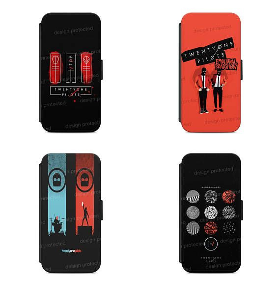 Twenty One Pilots Band Wallet Flip phone Case Cover For All