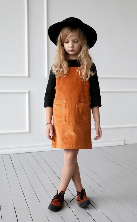 Pinafore Dress Children/'s Wear Kids wear Girls Clothes Yellow Pinafore Culotte Dresses Kids Clothes
