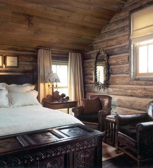 Log Cabin Bedroom: Pin By Adrienne Anderson On For The Home