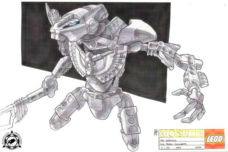 Bionicle 3: Web of Shadows - Matau Hordika Front View Concept Art