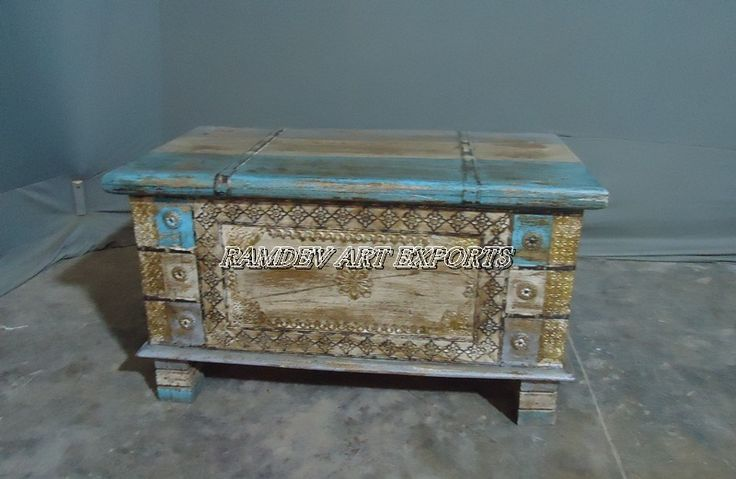 Reclaimed Wooden Painted Box