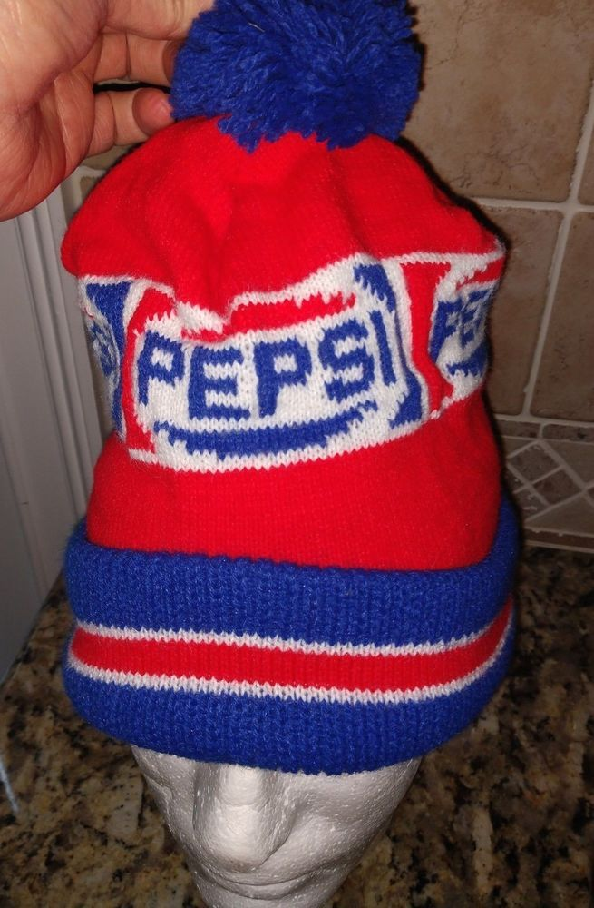 Mens NOS Vintage Pepsi Cola Knit Hat Winter Ski with Pom One Size Red White  Blue  fashion  clothing  shoes  accessories  mensaccessories  hats (ebay  link) d6b373efa87
