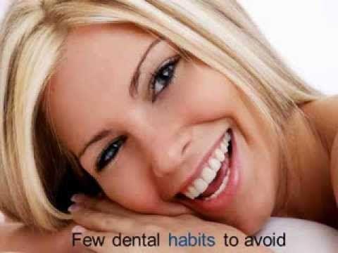 Few dental habits to avoid.
