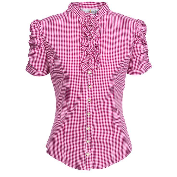 Trachtenbluse Jasmin in Pink von Almsach