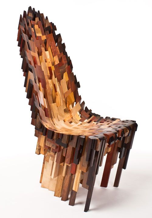 Yard Sale Project (Ian Spencer and Cairn Young). Roccapina III, 2011. Various hardwoods, 96.5 x 45.7 x 76.2 cm. Courtesy of the artist; Todd...