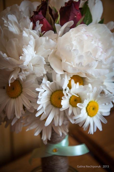 Daisies, peonies, roses.