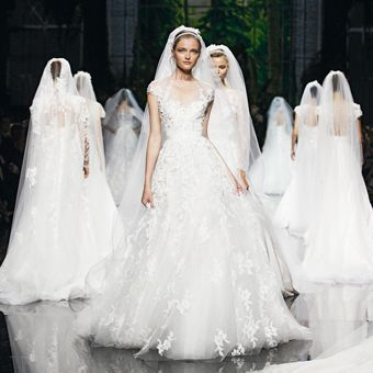 Brides: Elie Saab - Spring 2013 | Bridal Runway Shows | Wedding Dresses and Style | Brides.com
