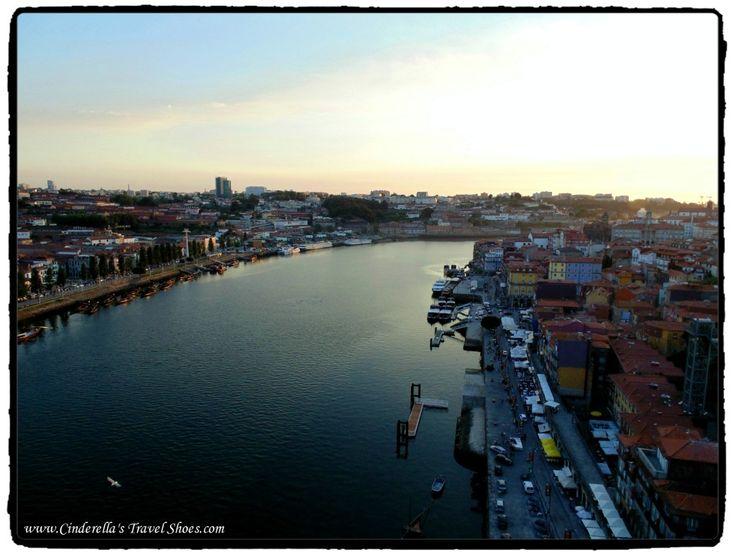 Sunsunet from the Bridge in Porto