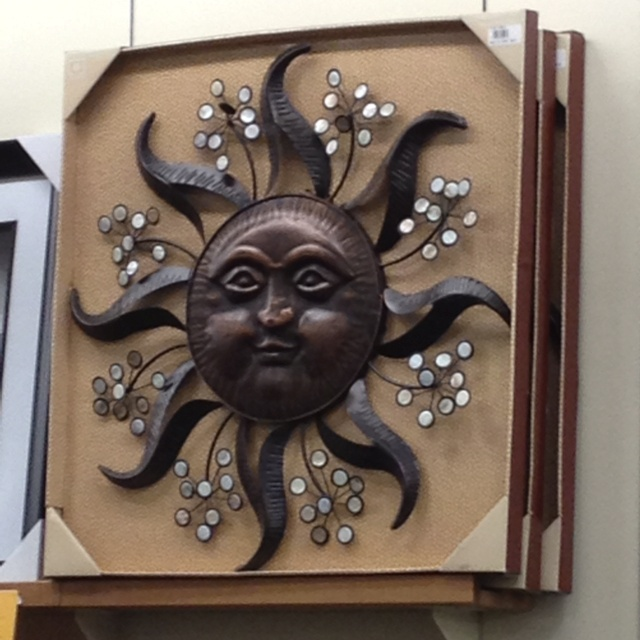 Sun face wall decor saw this at fred meyers and wish i could add it