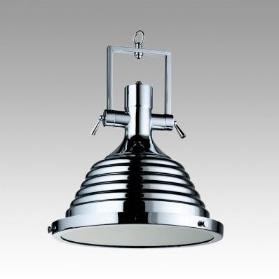 Ribbed Industrial Pendant Light