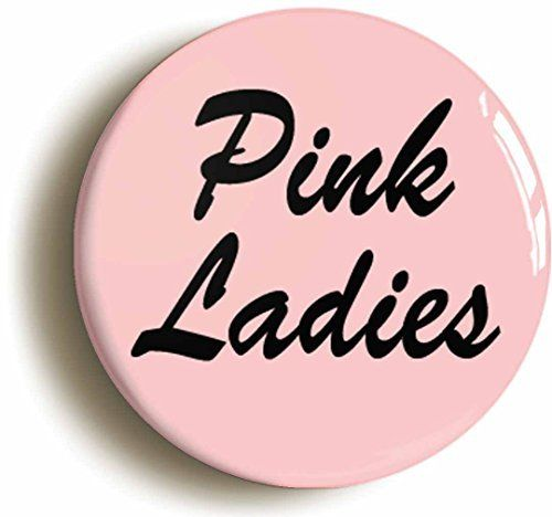 Pink Ladies Grease Fifties Button Pin