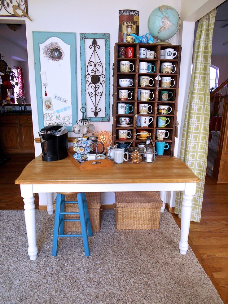 Coffee bar in my home office, a repurposed dining room.