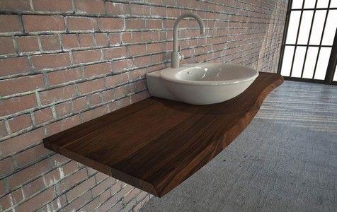 die besten 25 waschtischplatte holz ideen auf pinterest. Black Bedroom Furniture Sets. Home Design Ideas