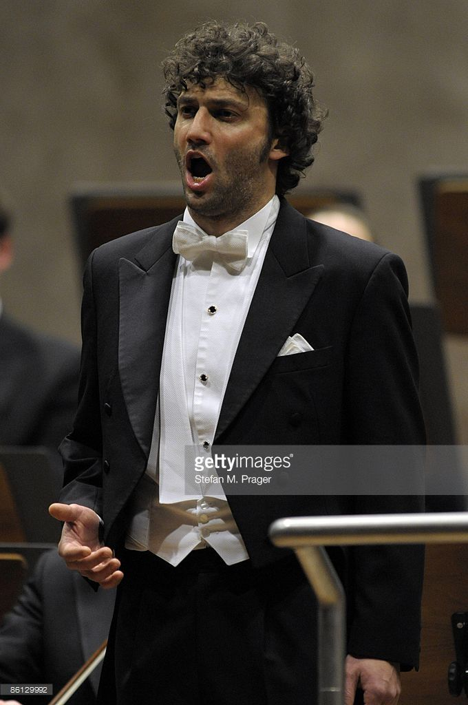 Photo of Jonas KAUFMANN; German tenor Jonas Kaufmann performing on stage