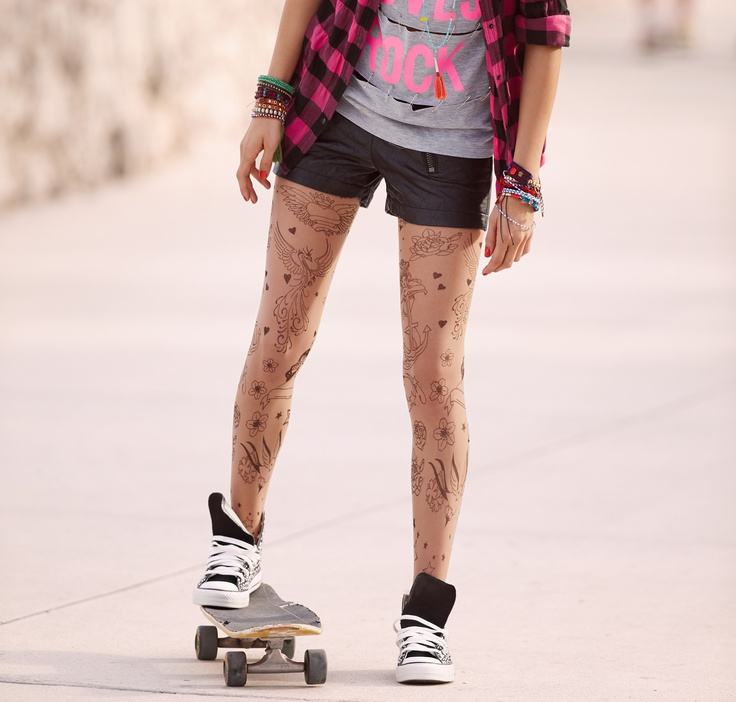 Tattoo Tights - Calzedonia S/S 2013