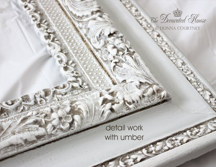 The Decorated House, Old frame given a new life with Annie Sloan chalk paint in Paris Grey. How to antique glaze tutorial.