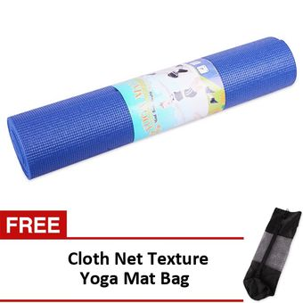 "Buy Yoga Mat 68""x24"" (Dark Blue) with FREE Cloth Net Texture Yoga Mat Bag online at Lazada. Discount prices and promotional sale on all. Free Shipping."