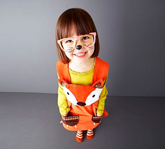 Fox Dress  Little girls character play dress by wildthingsdresses, $60.00  another great halloween idea