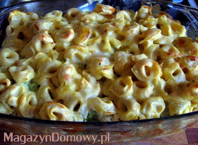 Zapiekanka z tortellini i brokułami - Przepisy kulinarne Alicji