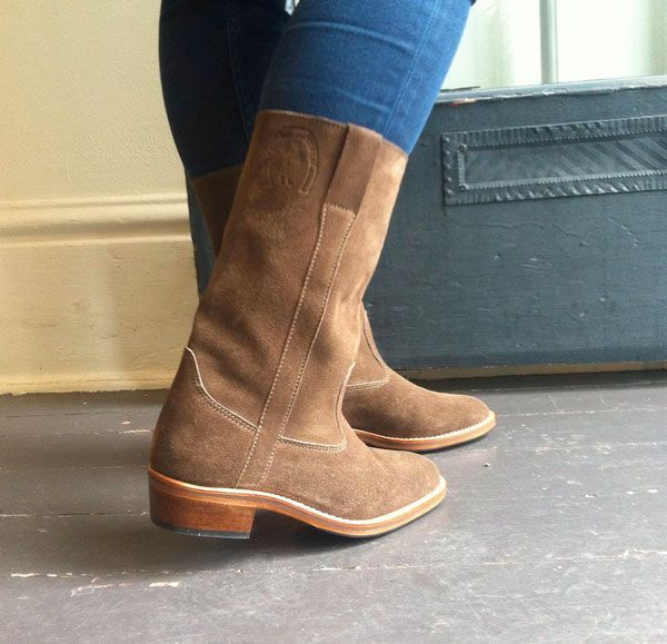 La Botte Gardiane Taupe Suede Riding boot