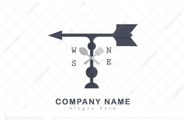 Logo for sale: Restaurant Wind Direction Logo