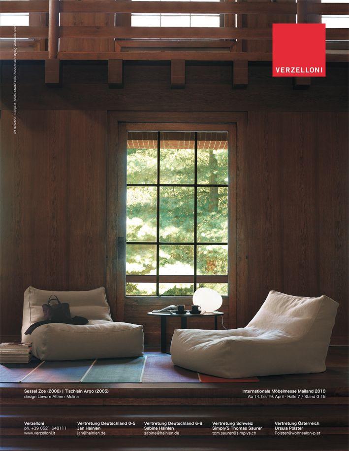 Zoe. Verzelloni on Atrium, Casa Trend, Eigen Huis, Elle Decor Italia, Elle Decoration, Ideal Heim.