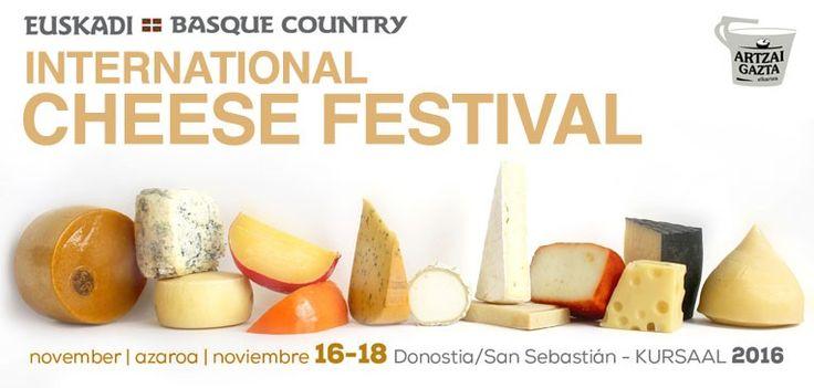 El International Cheese Festival es el certamen de quesos más importante del mundo cuya nueva edición se celebrará en San Sebastián/Donostia, Capital Europea de la Cultura 2016, incluyendo en su programa la 29ª edición de World Cheese Awards. La cita será los días 16, 17 y 18 de noviembre de 2016.