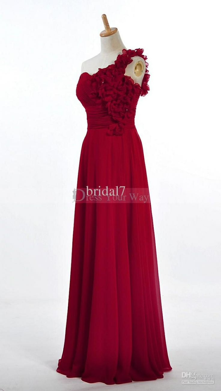 Red braids maid dress