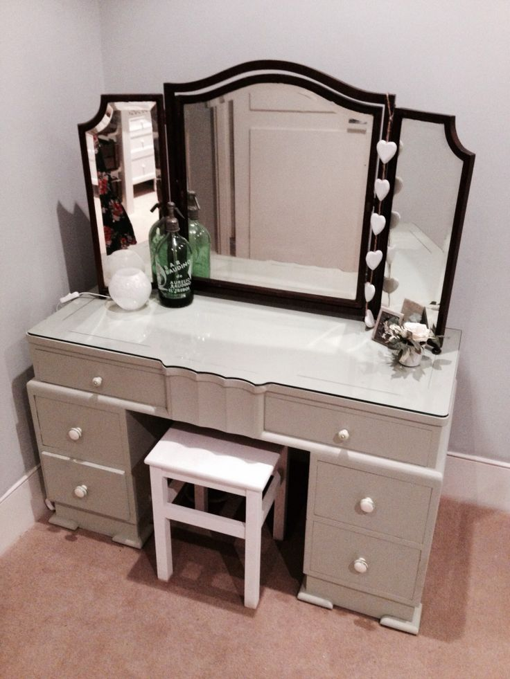 Upcycled dressing table for the bedroom .