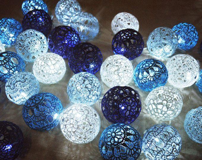 Lichterketten, Lichterketten, Led Weihnachtsbeleuchtung, Weihnachtslichter,  Schlafzimmer Dekor, 20 Gesteinsablagerungen Blauen Schattierungen
