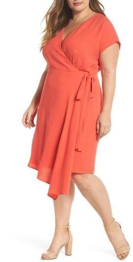 London Times Crepe Surplice Dress - Plus Size Fashion | Plus Size ...