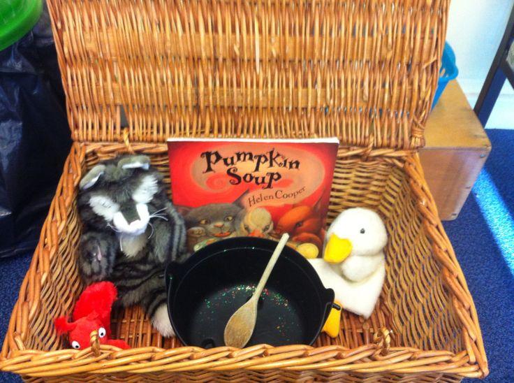 Classroom Ideas For Preschool ~ Pumpkin soup story chest autumn harvest eyfs