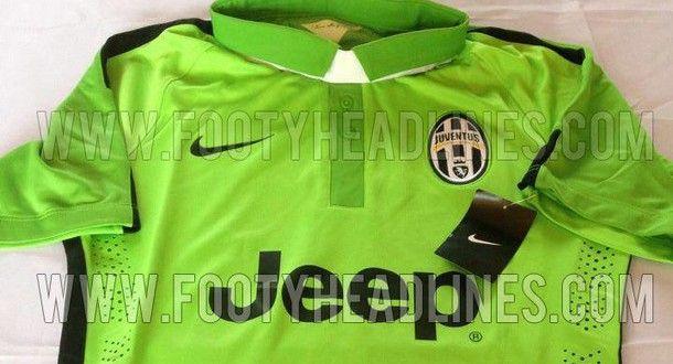 Terza maglia Juventus 2014-2015: ecco la divisa verde | Foto