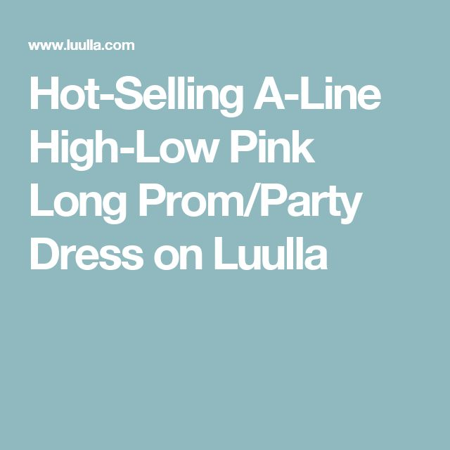 Hot-Selling A-Line High-Low Pink Long Prom/Party Dress on Luulla