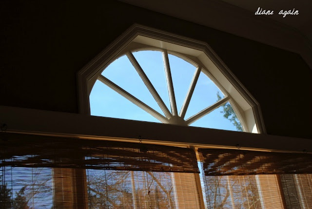 Living Room Half Circle Window Matchstick Blinds My